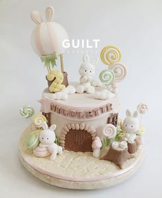27 Ideas Cake Ideas Easter Cookie Decorating For 2019 Baby Birthday Cakes, Baby Girl Cakes, Birthday Desserts, Birthday Kids, Easter Bunny Cake, Easter Cookies, Bunny Cakes, Baby Shower Cupcakes For Girls, Baby Shower Cakes