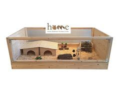 High quality 120x60cm natural wood open-topped Guinea Pig Cage, suitable for a pair of guinea pigs. Hand-made in the UK. • Made from solid 18mm timber frame, 12mm timber side panels, 25x13mm (1 x 1/2) galvanised zinc wire mesh to front and back, and plywood base. • Deep drawer allows thick substrate layer for your pet to dig and burrow. • Top frame lifts off base to allow easy cleaning. • Hinged mesh roof can be added if required - see my other listing. • Base interior ready coated with…