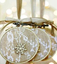 Embroidery Hoop Christmas Ornaments   Stunningly Beautiful DIY Homemade Christmas Ornaments