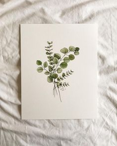 This simple, neutral eucalyptus print is a wonderful addition to any room! Pick one up at the link in my profile!