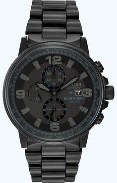 Citizen Men's CA0295-58E Eco-Drive Nighthawk Watch #citizen #watch #men