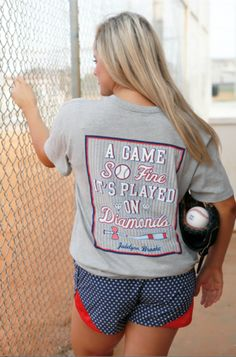 We are SO giddy to introduce our brand new baseball/softball design.... A GAME SO FINE IT'S PLAYED ON DIAMONDS!!!!⚾ ⚾⚾And they sure do look adorable with our brand new patriotic shorts that we will be launching the beginning of February!!!! YAY!!!!! Can't wait to hear what y'all think