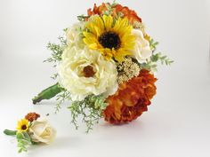 Excited to share this item from my shop: Rust Orange & Cream Peony Yellow Sunflower Real Touch Ivory Rose Bridal Bridesmaid Wedding Bouquet,Matching Boutonniere, Fall Autumn Rustic Bridemaid Bouquet, Wedding Bridesmaid Bouquets, Silk Bridal Bouquet, Red Rose Bouquet, Fall Wedding Flowers, Autumn Wedding, Peony Rose, Fall Bouquets, Rust Orange