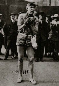 Escapologist.  Dignified and characterful portraits of Londoners, believed to be by photographer Donald McLeish (1879-1950), selected from the three volumes of Wonderful London edited by St John Adcock and produced by The Fleetway House in the nineteen-twenties.
