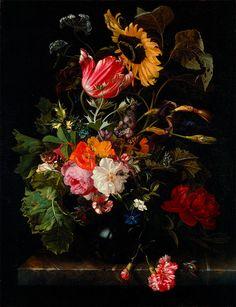 "Maria van Oosterwijck : ""Bouquet of Flowers in a Vase"" (c1670) - Giclee Fine Art Print"