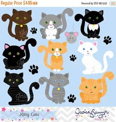 80% OFF descargar INSTANT kitty cat por JessicaSawyerDesign