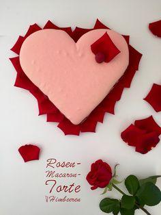 Und für den Valentinstag gibt's für die Liebsten eine große Macarontorte mit Rosenwasser, frischen Himbeeren und einer fruchtigen Himbeercreme. Macarons ganz groß.
