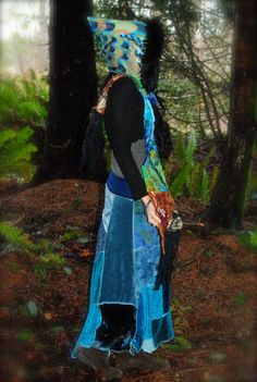 Scoodie PeacoCk Hooded Scarf FestivaL by IntergalacticApparel