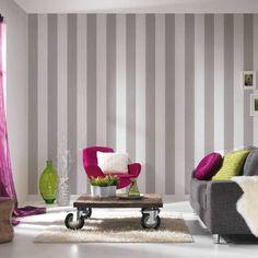 Création liberte rayé pastel couleur texturé papier peint roll 314031