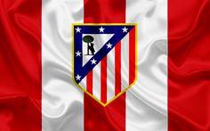 Lataa kuva Atletico Madrid, football club, tunnus, logo, La Liga, Espanja, LFP, Espanjan Jalkapallon Mm-Kilpailut