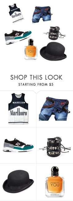 """""""Papa"""" by louloutte-joylescure ❤ liked on Polyvore featuring New Balance, Scala, Giorgio Armani, men's fashion and menswear"""