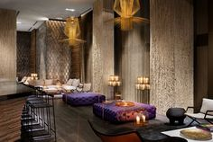 Beautiful surfaces in this hotel lobby - 6 Ways Hotel Lobbies Teach us About Interior Design
