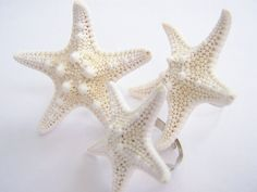 Starfish Cocktail Ring - a beach gift for her - Bridal and bridesmaids gifts -beach weddings and cocktail parties