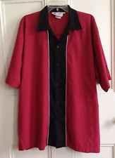 Cruisin USA Bowling Shirt Mens Size 2XL Red Short Sleeve XXL Rockabilly Cool