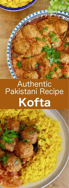 Kofta curry is a recipe for deliciously spiced traditional Pakistani meatballs that are served in a creamy sauce and saffron rice meatball Pakistan # Curry Recipes, Meat Recipes, Indian Food Recipes, Cooking Recipes, Healthy Recipes, Ethnic Recipes, Pakistani Food Recipes, Pakistani Dishes, Indian Dishes