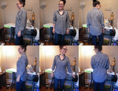 Leila's excellent tutorial about adding shirring to shape a ready-to-wear boxy shirt