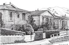 Railway Houses in Ngaio Cottages, New Zealand, The Past, Houses, House Styles, Outdoor, Inspiration, Beautiful, Biblical Inspiration