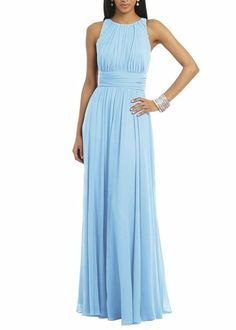 Elegant A-Line Long Chiffon Bridesmaid Dress
