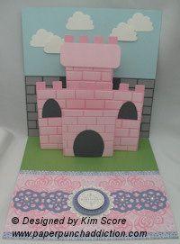 Paper Punch Addiction: Pop-Up Princess Castle Card Tutorial