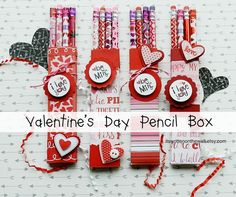 It's Written on the Wall: FUN Valentine's Day Craft-Valentine's Day Pencil Boxes for Kids, Classroom Gifts