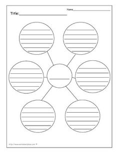 Star, Webbing, Cluster Graphic Organizer Printouts. Every