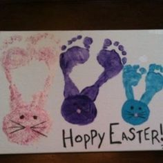 Easter Hand Print and Foot Print Crafts to do With Kids