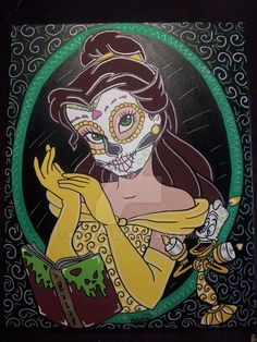 Belle Sugar Skull by KITTYOG on @DeviantArt