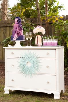 Outdoors, I can just take my dresser and fill the top drawers with forks, napkins, knives, etc.