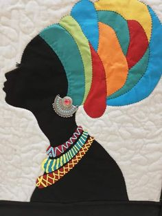 Best 12 African woman on canvas – SkillOfKing. Quilting Projects, Quilting Designs, Embroidery Patterns, Quilt Patterns, African Art Projects, African Quilts, African Art Paintings, Africa Art, Black Women Art
