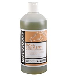 McTarnahans Ball Liniment (32oz.) - A brace antiseptic that is effective in the relief of muscle soreness and minor leg ailments including inflammation, heat in the knees, tendons or ankles. Ball liniment ensures deep penetration and prompt relief.