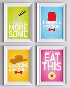 Doctor Who Small Prints $2.00 each. Somebody get me these.