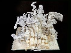 "reading-as-breathing: "" Alice in Wonderland book art sculpture. Alice Book, Alice In Wonderland Book, Adventures In Wonderland, Up Book, Book Art, Book Sculpture, Sculptures, Altered Books, Character"