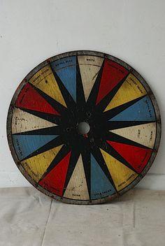 antique carnival game wheel