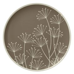 Shop Mod Dandelions, Melamine Tableware / Plate created by koncepts. Personalize it with photos & text or purchase as is! Hand Built Pottery, Slab Pottery, Pottery Plates, Pottery Wheel, Sgraffito, Pottery Painting Designs, Pottery Designs, Pottery Painting Ideas Easy, Pottery Ideas