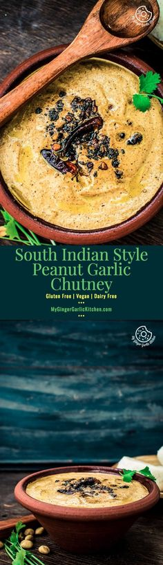 How To Make South Indian Style Peanut Garlic Chutney | Whole Wheat Cookies | mygingergarlickitchen.com/ @anupama_dreams