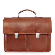 Buy Brune Tan Flapover Briefcase For Men Online India at Rs.6,999/-