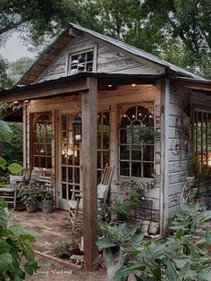 Garden Shed Ideas. 40 Simply amazing garden shed ideas! (Image Courtesy of Living Vintage) Diy Shed Plans, Storage Shed Plans, Diy Storage, Outdoor Storage, Garage Plans, Storage Room, Wood Storage, Salvaged Wood Projects, Shed Decor