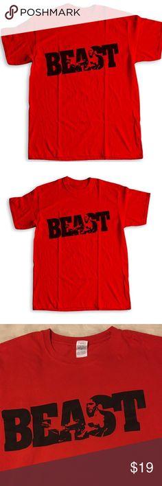 Gildan beast workout shirt Beast t-shirt BODYBUILDING clothing for men Gym Shirt Kraise Workout fitness. Size large. Never worn. Gildan Shirts Tees - Short Sleeve