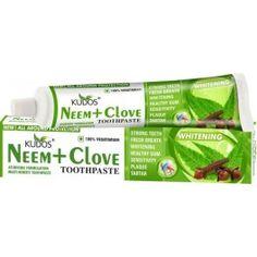 Kudos Neem Clove Toothpaste Toothpaste g) Kudos Ayurveda, Ayurvedic Soap, Herbal Toothpaste, Whitening, Body Care, The Balm, Herbalism, Personal Care, Herbal Medicine