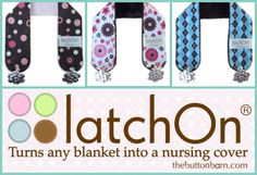 You will love the latchOn! It turns any blanket into a nursing cover! #pregnancy #baby