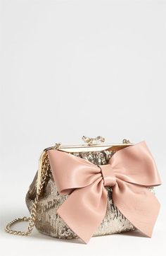 RED Valentino 'Sequin Bow - Small' Frame Shoulder Bag available at #Nordstrom