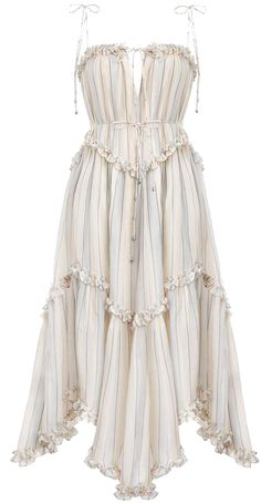 Designer Dresses Mid Length Zimmermann Bowie Floating Stripe DressYou are in the right place about Women Dress long Here we offer you the most beautiful pictures about the Women Dress special occasions you are looking for. Pretty Outfits, Pretty Dresses, Beautiful Dresses, Cute Outfits, Look Fashion, Fashion Design, Fashion Fashion, Mode Inspiration, Dream Dress