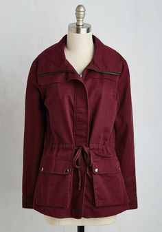 Escape into Nature Jacket in Burgundy