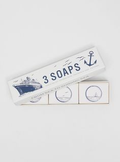I love the packaging on these Izola Soap Trio #soap #soappackaging #packaging