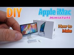 DIY Realistic Miniature Apple iMac | DollHouse | No Polymer Clay! - YouTube