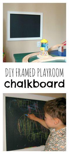 Framed Chalkboard DIY – No Time For Flash Cards - old. Boy Room, Kids Room, Girl Rooms, School Tool, Framed Chalkboard, Toddler Rooms, Diy Frame, Diy For Kids, Playroom