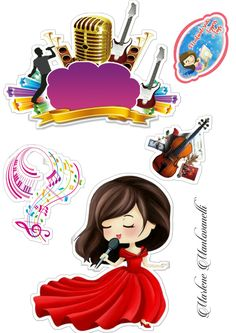 Bolo Musical, Cake Toppers, Minnie Mouse, Scrap, Clip Art, Disney Characters, Anime, Party Stuff, Lawyer