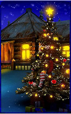 """Photo from album """"Beautiful Christmas trees"""" on Yandex.Disk Photo from album """"Елочки-красавицы"""" on Yandex.Disk Photo by tarka.ju on Yandex. Merry Christmas Gif, Christmas Scenery, Beautiful Christmas Trees, Christmas Art, Christmas Greetings, Winter Christmas, Christmas Lights, Christmas Decorations, Xmas"""