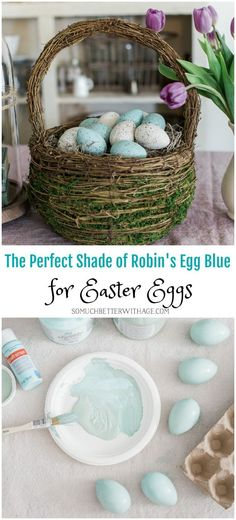 The Perfect Shade of Robin's Egg Blue for Easter Eggs - So Much Better With Age #somuchbetterwithage #eastereggs #easterdecor #springdecor