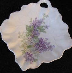 darling-antique-dish-with-lilacsviolets